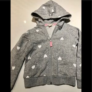 H&M Heart little girls hoodie size 4-6yrs